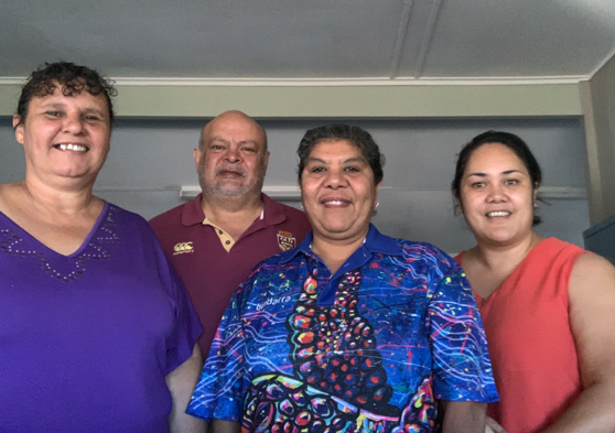 From left to right: Sharn Fogerty – Family Participation Facilitator, Garry Cummins - Family Participation Facilitator, Josie Wilde - Family Participation Facilitator, Liz Toeke – Manager FPP, (not in picture: Rob Smerdon - Family Participation Facilitator)